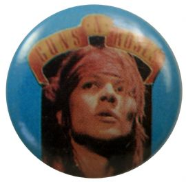Guns N'Roses - 'Axl Blue' Button Badge